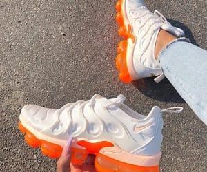 shoes, nike, and orange image