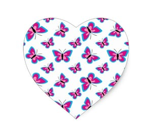 butterfly, heart, and sticker image