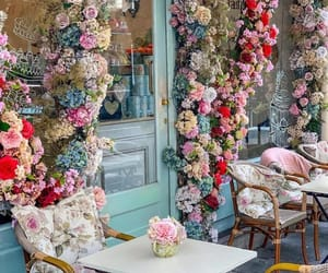 flowers, aesthetic, and coffee shop image