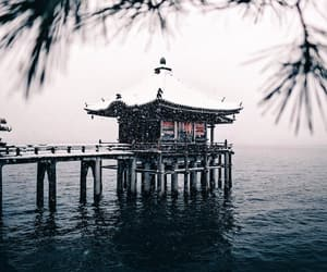 asia, winter, and lake image