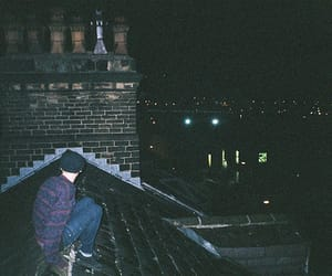 alternative, night, and rooftop image