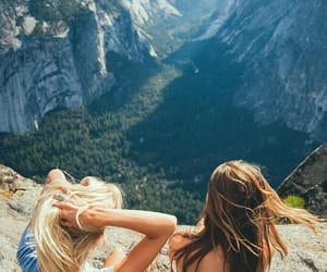 girl, best friends, and travel image