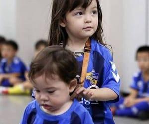 asian baby, football, and korean image