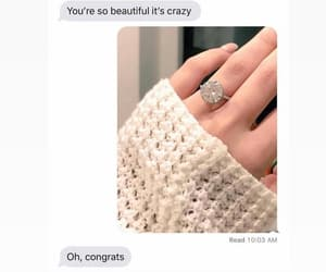 bitch, diamond ring, and funny image