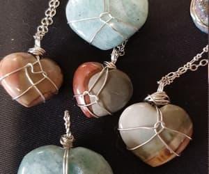 amazonite, jasper, and gemstone pendant image