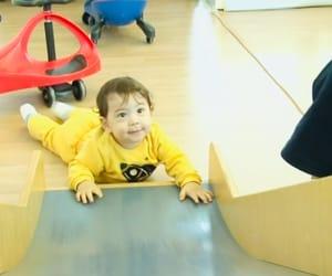 asian baby, yellow, and bebe image