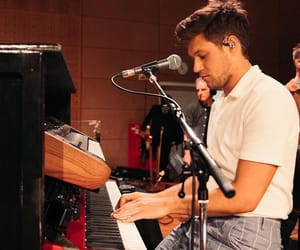 piano, niall horan, and one direction image