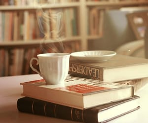 chilling, books, and coffee image