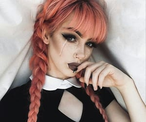 gothic, hair, and red image