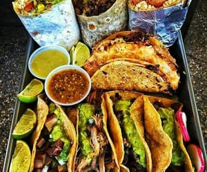 food, tacos, and burrito image