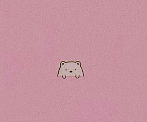 bear, pink, and wallpaper image