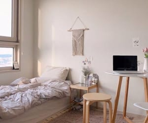 bed, bedroom, and korea image