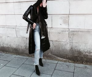 black, booties, and chic image
