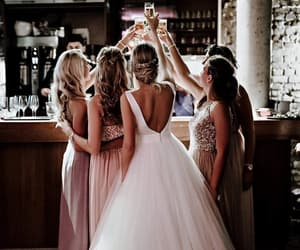 wedding, bride, and girl image