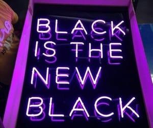 purple, black, and neon image