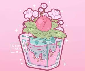 anime, planta, and pink image