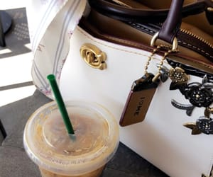 bags, coffee, and girly image