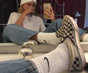 girl, nike, and vans image
