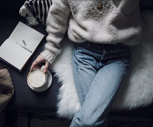 coffee, cosy, and diary image