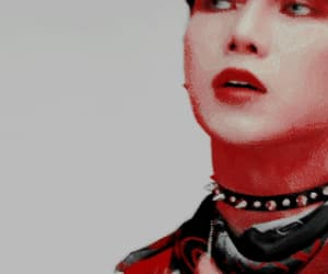 aesthetic, gif, and red and white image
