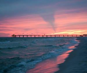 florida, sunset, and usa image