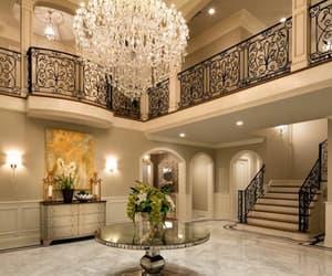 interior, chandelier, and design image