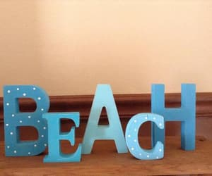 etsy, beach sign, and shabby chic decor image
