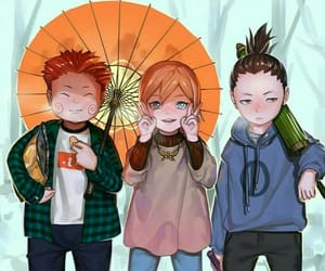 naruto, yamanaka ino, and akimichi chouji image