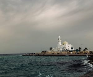 beach, city, and mosque image