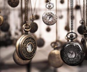 beautiful, clock, and gold image