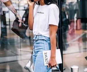 bag, brunette, and chic image