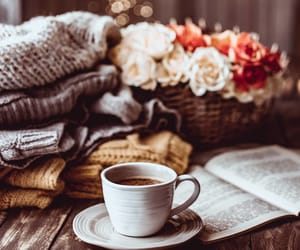 books, clothes, and coffee image