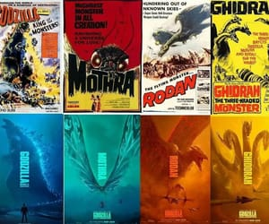 Godzilla, monsters, and ghidorah image