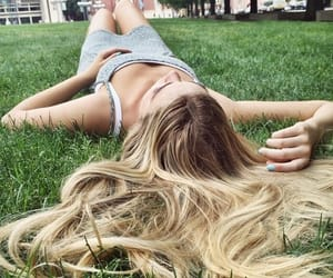 hair, resting, and lying down image