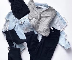 black boots, fashion, and jeans jacket image