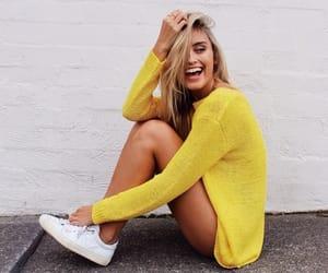 girl, yellow, and style image
