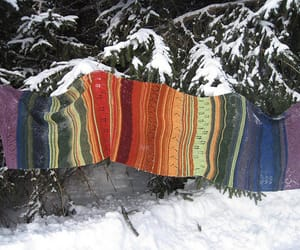craft, knit, and snow image