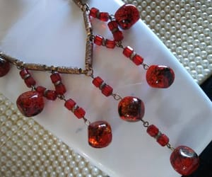 beaded necklace, vintage jewelry, and statement necklace image