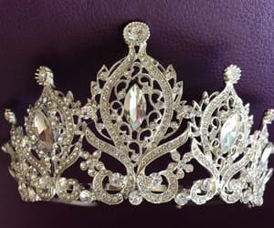 etsy, tiaras, and silver crown image