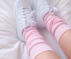 baby pink, pink shoes, and white shoes image