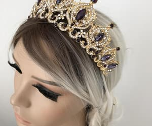etsy, tiaras, and bridal crown image