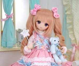 dolls, figures, and pink image