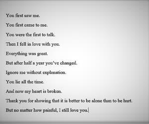 hurts, words, and heartbroken image