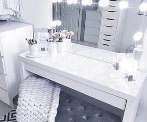 makeup, mirror, and vanity image
