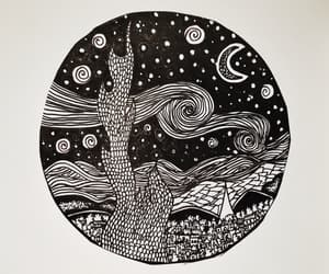 art, b&w, and draws image