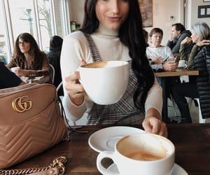 fall fashion and coffee inspo image