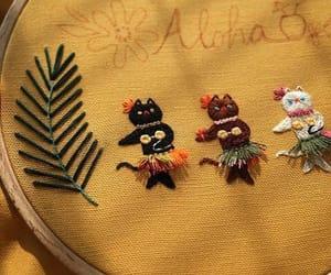 Aloha, cats, and embroidery image