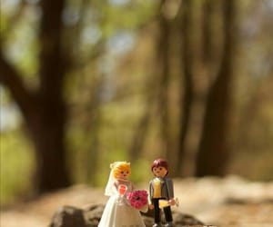 bride, forest, and romantic image