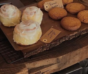 bakery, cinnamon roll, and sweets image