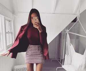 blouse, coat, and red image